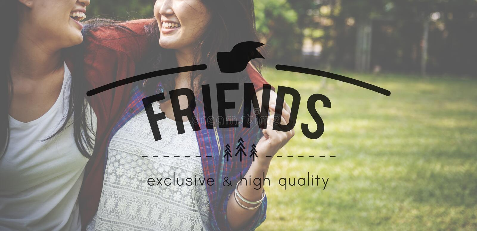 Friends Friendship Relation Companionship Friendliness Concept royalty free stock images