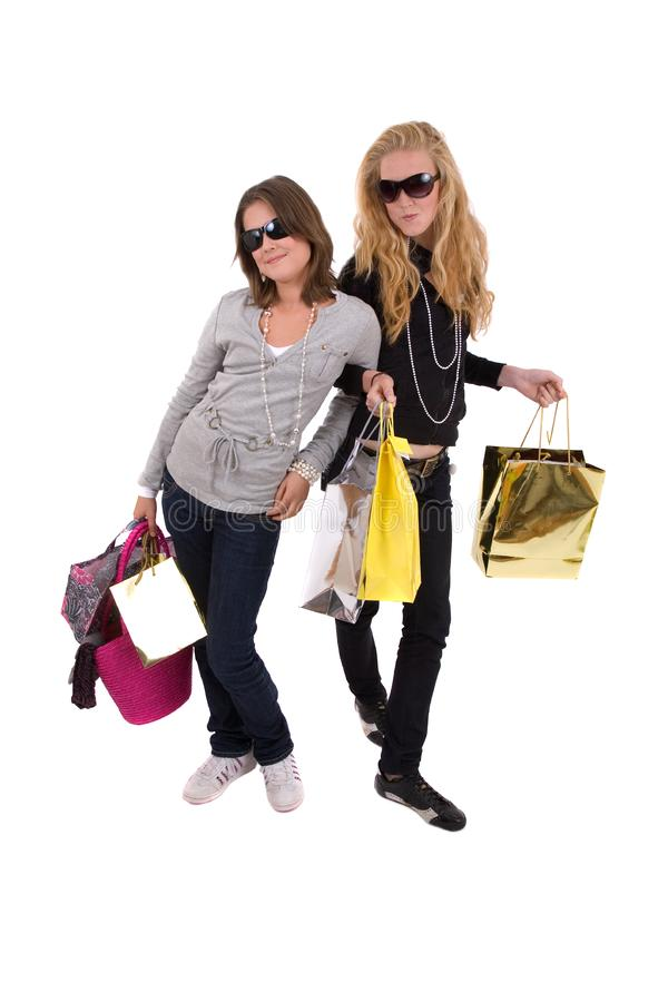 Friends Gone Shopping Stock Photo