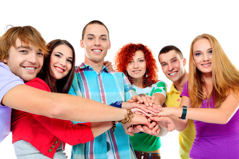 Download Friends handshake stock photo. Image of cheerful, relationship - 28085022
