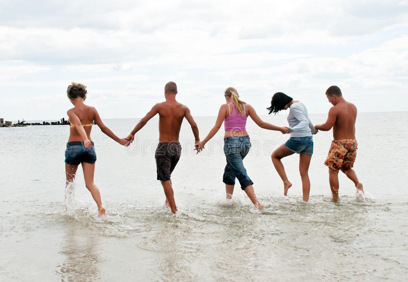 Download Friends Having Fun At The Beach Stock Photo - Image: 16322676