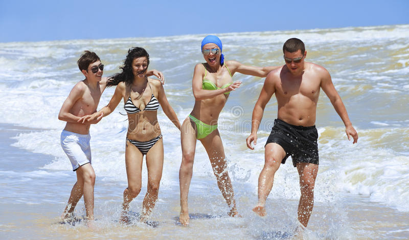Download Friends Having Fun At The Beach Stock Image - Image: 16408203