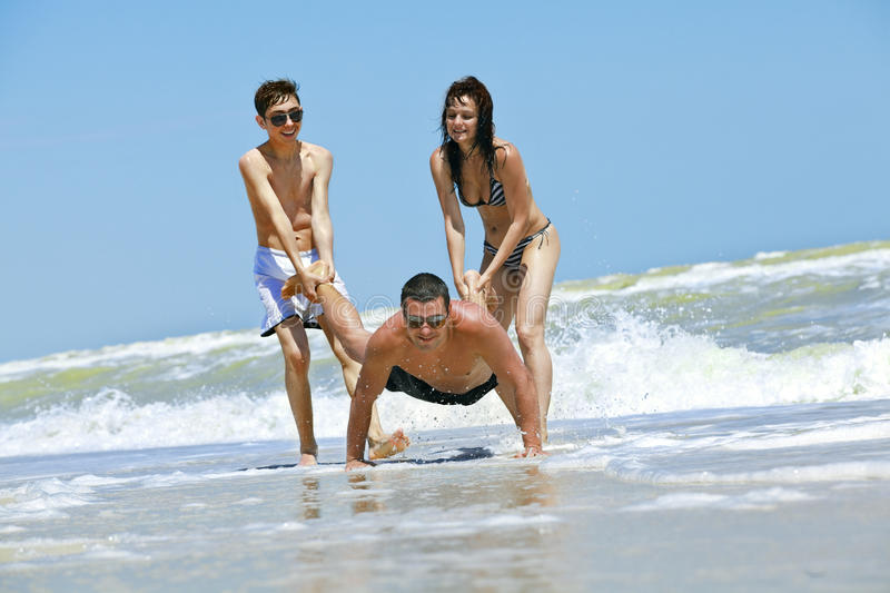 Download Friends Having Fun At The Beach Stock Image - Image: 16408243