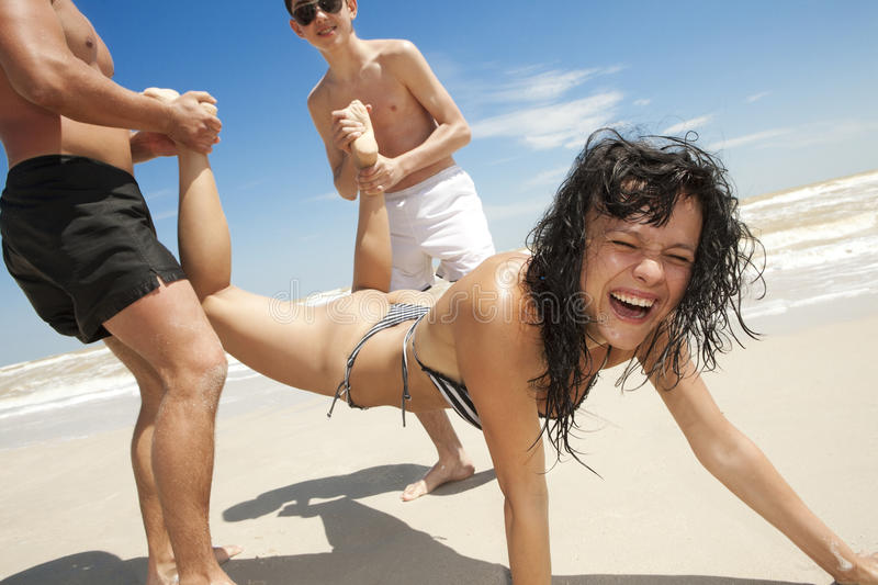Download Friends Having Fun At The Beach Royalty Free Stock Image - Image: 16757446