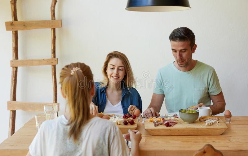 Friends having good time stock photography