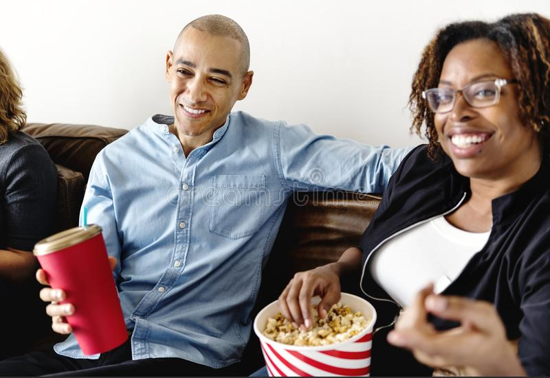Friends having a great time together royalty free stock photo