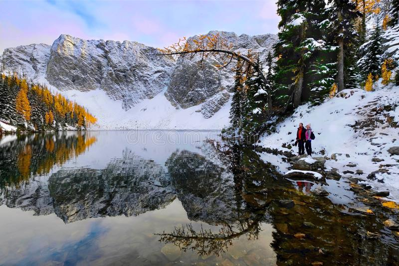 Vacation travel in North Cascades Mountains. stock image
