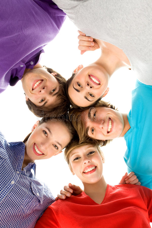 Download Friends in a huddle stock photo. Image of people, cool - 14251786