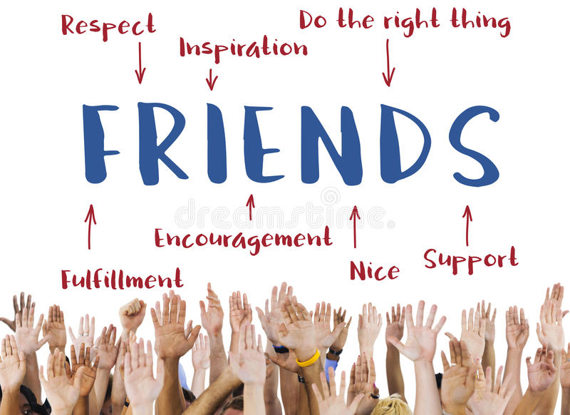 Friends Inspiration Diagram Graphic Concept stock images