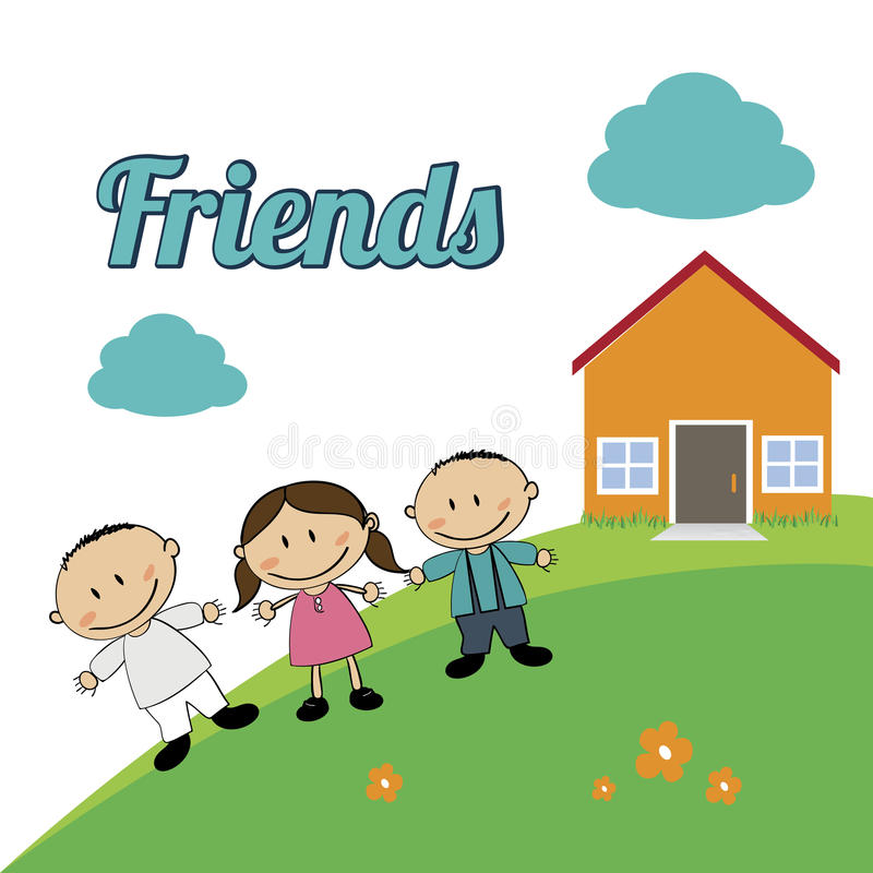 Friends Kids Clipart