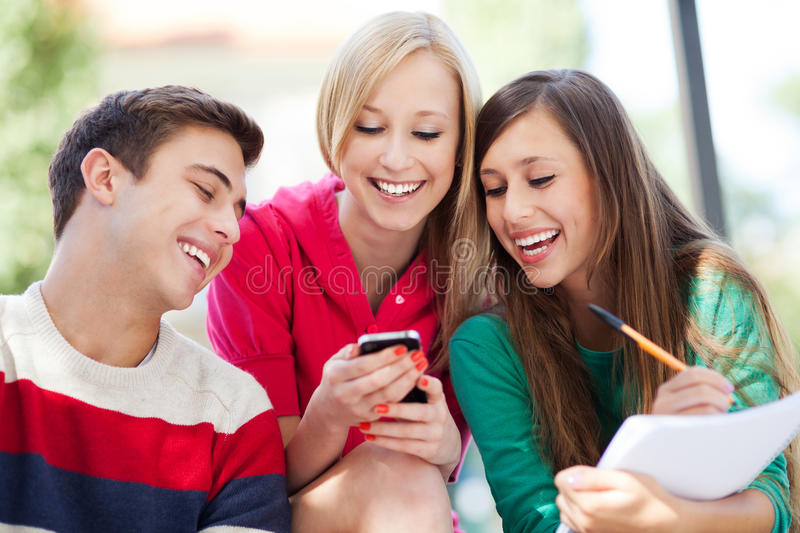 Download Friends laughing stock image. Image of attractive, people - 26871115