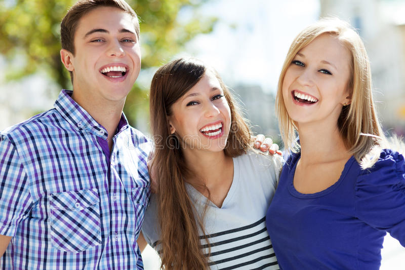 Download Friends laughing stock image. Image of girl, casual, girls - 26952427