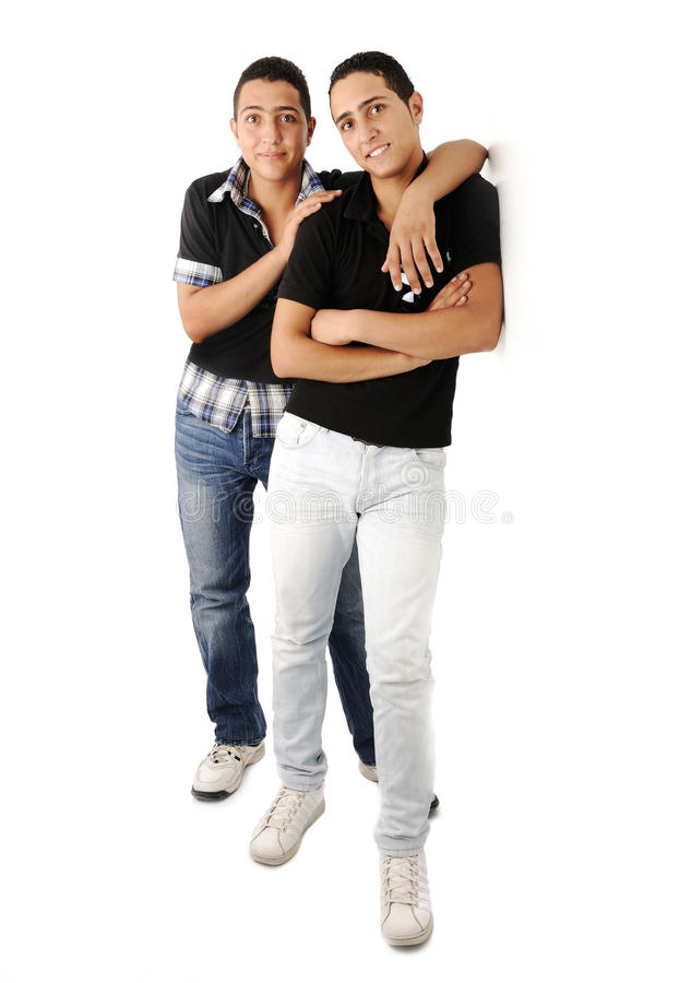 Download Friends Leaning Against The Wall Stock Image - Image: 29124047