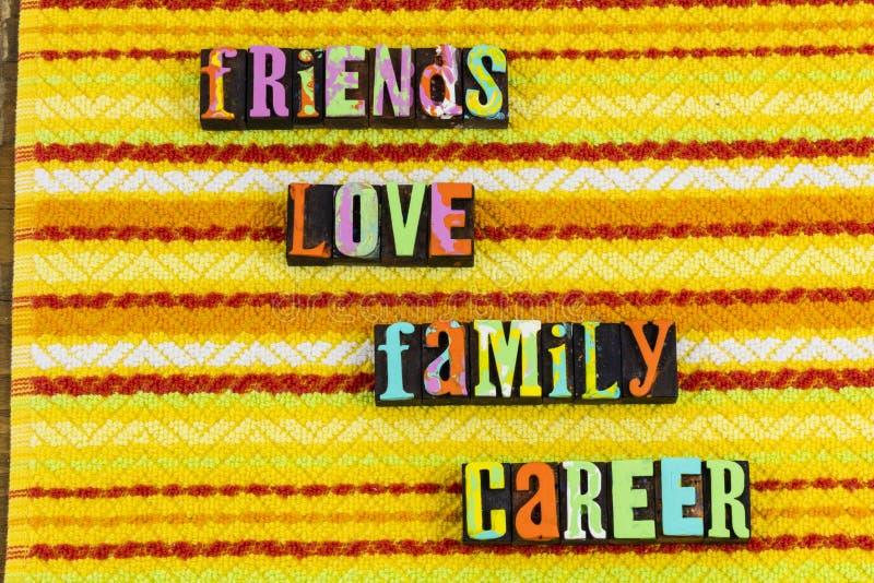 Friends love family career royalty free stock photos