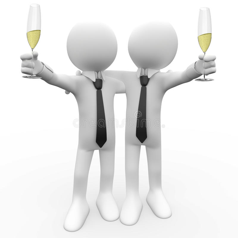 Download Friends Making A Toast With A Glass Of Champagne Stock Illustration - Image: 17227756
