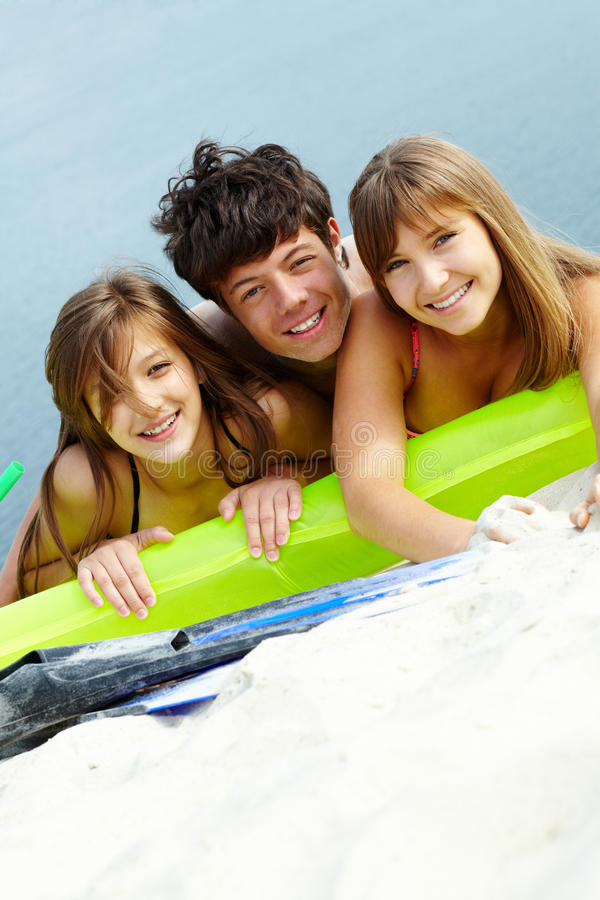 Download Friends on mattress stock photo. Image of mattress, outdoor - 23638258