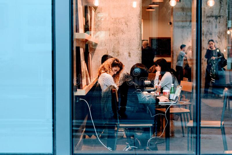 Friends Meeting In Cafe Free Public Domain Cc0 Image
