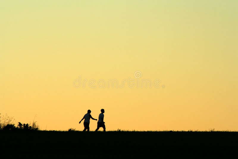Friends, Morning Walk Stock Photography