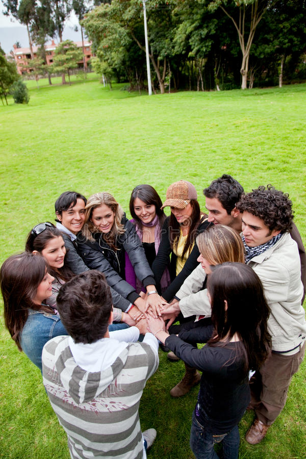 Download Friends outdoors stock photo. Image of diversity, latin - 9619654