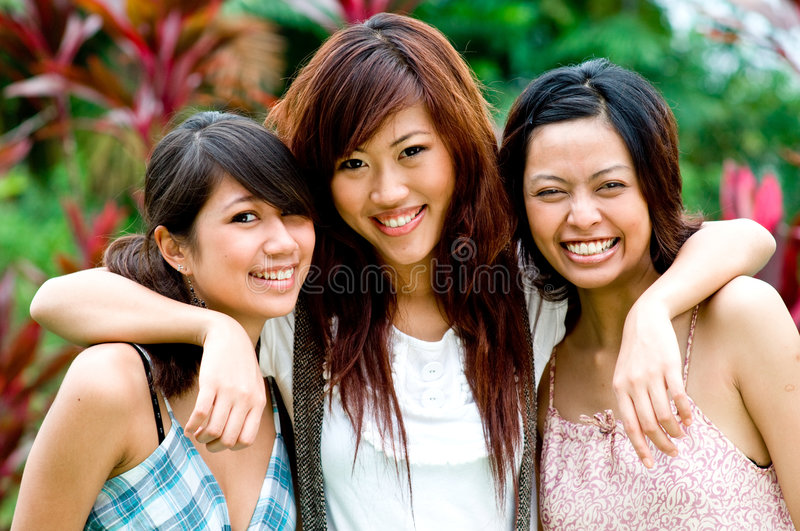 Friends outside royalty free stock photos