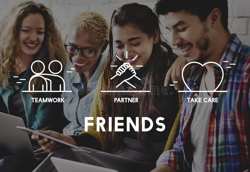 Friends Partner Take Care Teamwork Concept royalty free stock photos