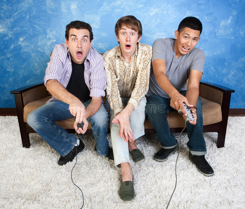 Download Friends Play Video Games stock image. Image of caucasian - 22021845