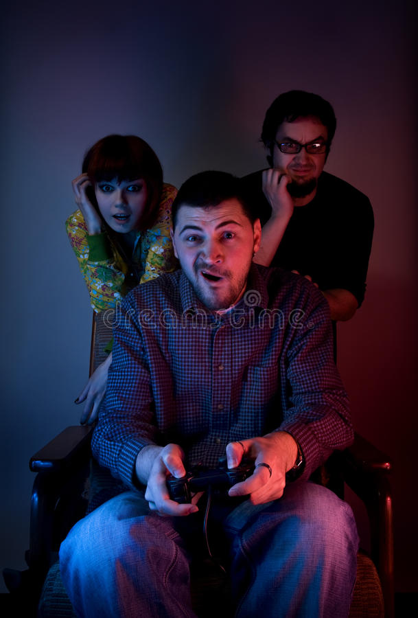Download Friends Playing Video Games Stock Image - Image of computer, color: 15489869
