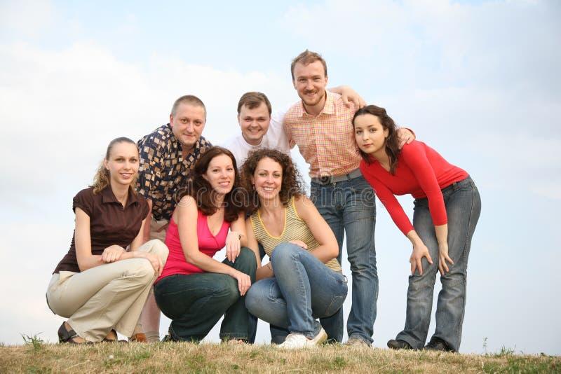 Friends portrait stock image