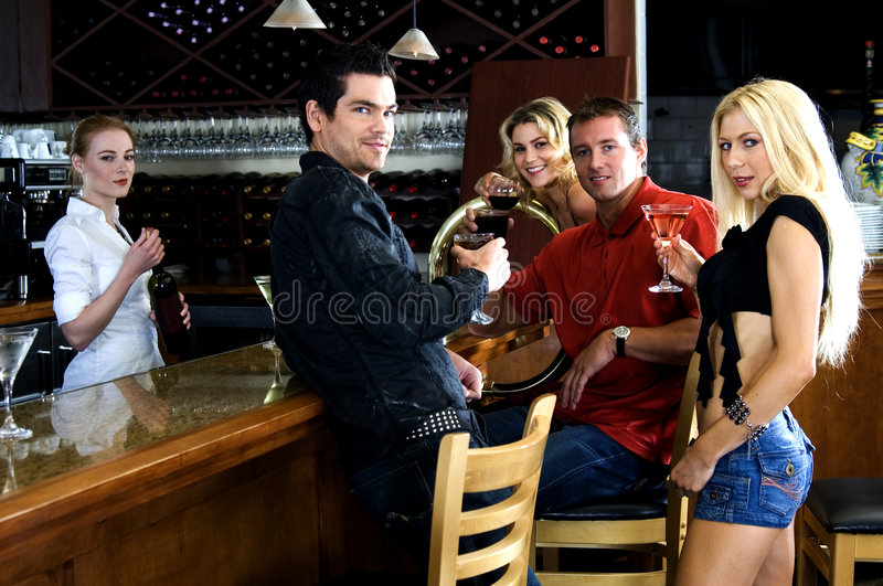 Friends at the pub royalty free stock photos