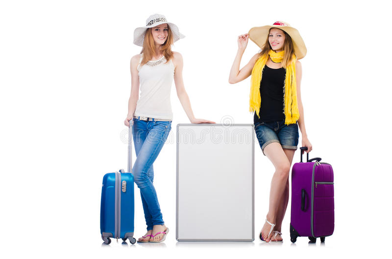 Friends ready. For summer vacation stock photo