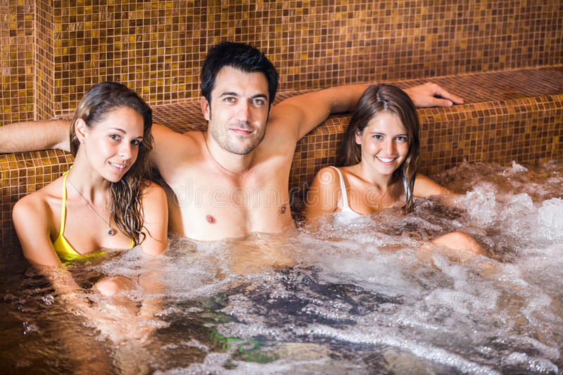 Download Friends relaxing in a spa stock image. Image of resort - 26611543