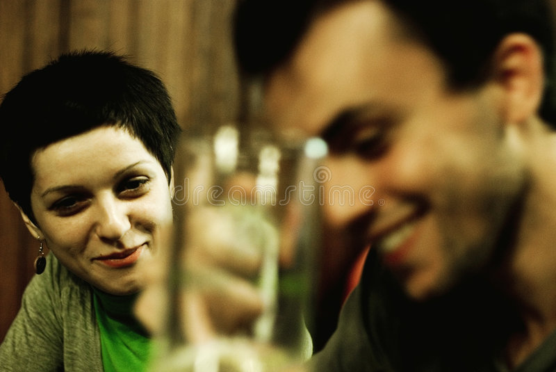 Download Friends at restaurant stock photo. Image of laughter, adult - 3195842