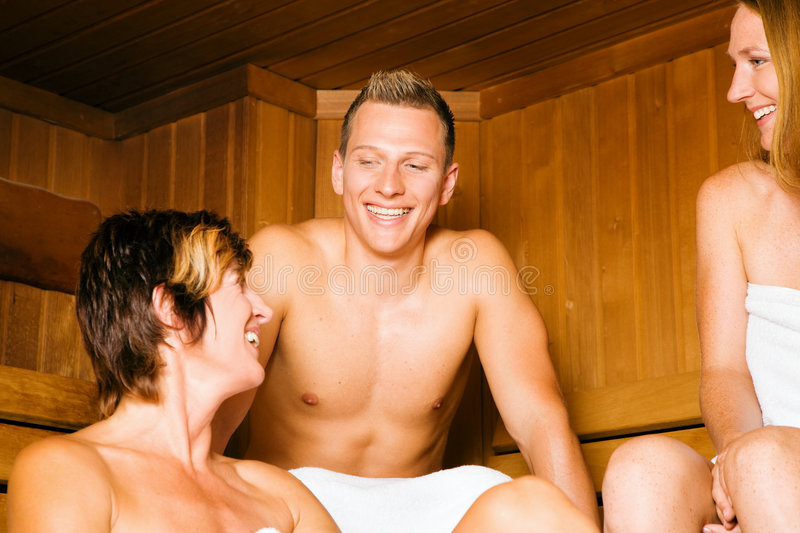 Download Friends In The Sauna Royalty Free Stock Photo - Image: 8173425