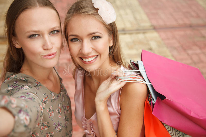 Friends sefie royalty free stock photos
