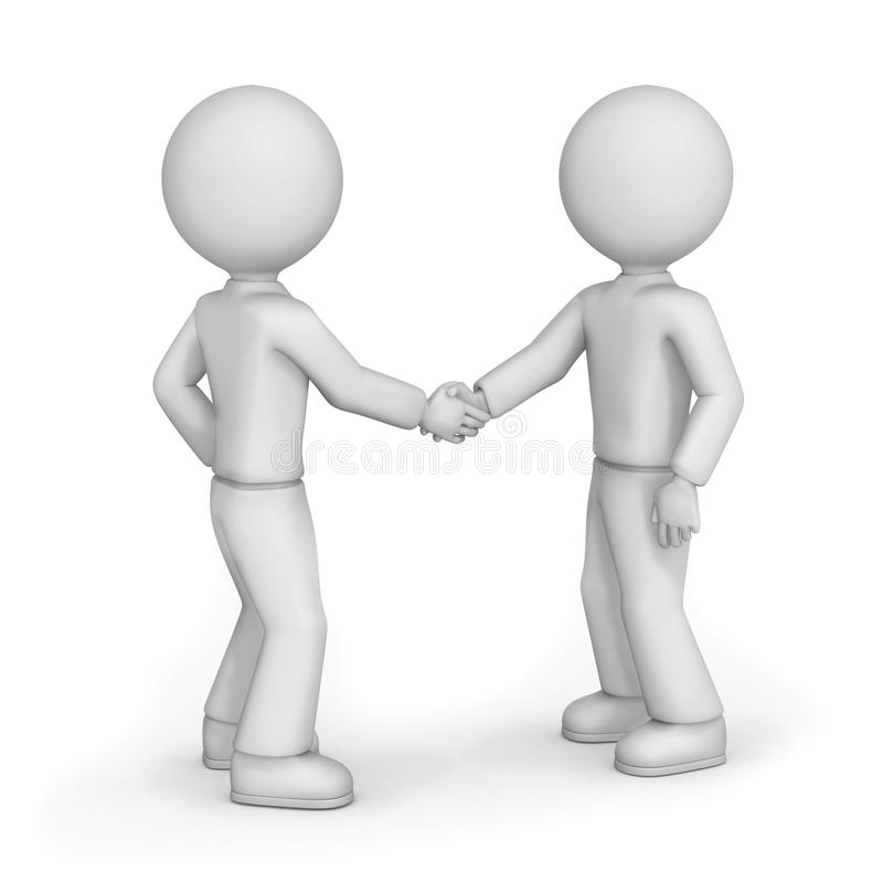 Friends shaking hands stock illustration