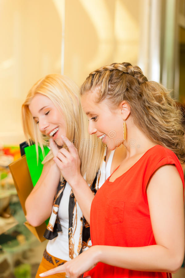 Download Friends Shoe Shopping In A Mall Stock Image - Image: 29150799