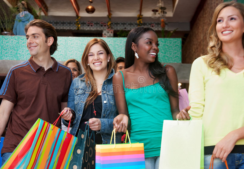 Download Friends shopping stock image. Image of retail, pretty - 8300699