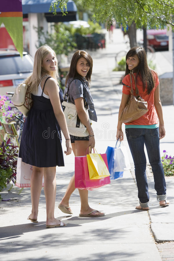 Download Friends shopping stock image. Image of multi, playful - 9631245