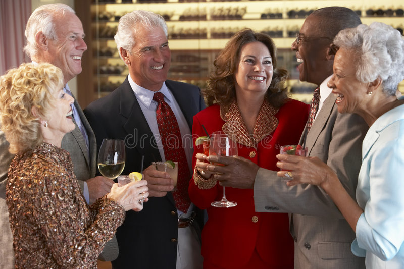 Download Friends Socializing At A Bar Stock Image - Image: 8754383