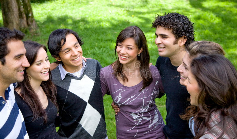 Download Friends Or Students Smiling Stock Image - Image: 7160275