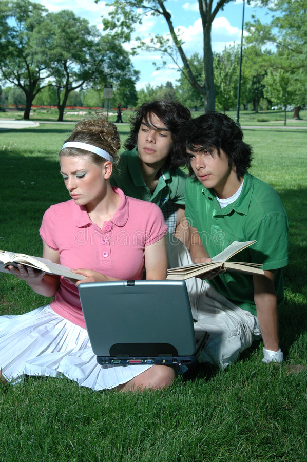 Friends Studying royalty free stock photography