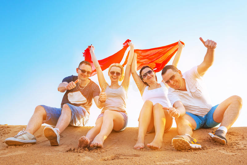 Download Friends On Summer Holidays Stock Photo Image Of Four