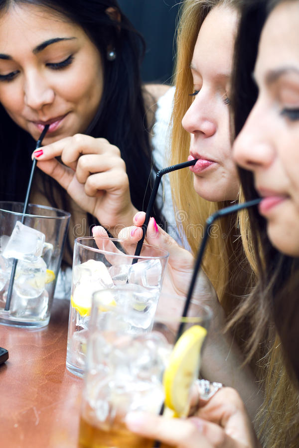 Download Friends Taking A Drink On A Terrace Stock Photo - Image: 33135400