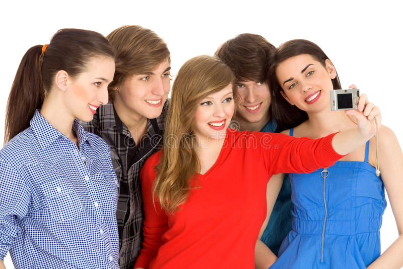Download Friends taking picture stock photo. Image of background - 14437662
