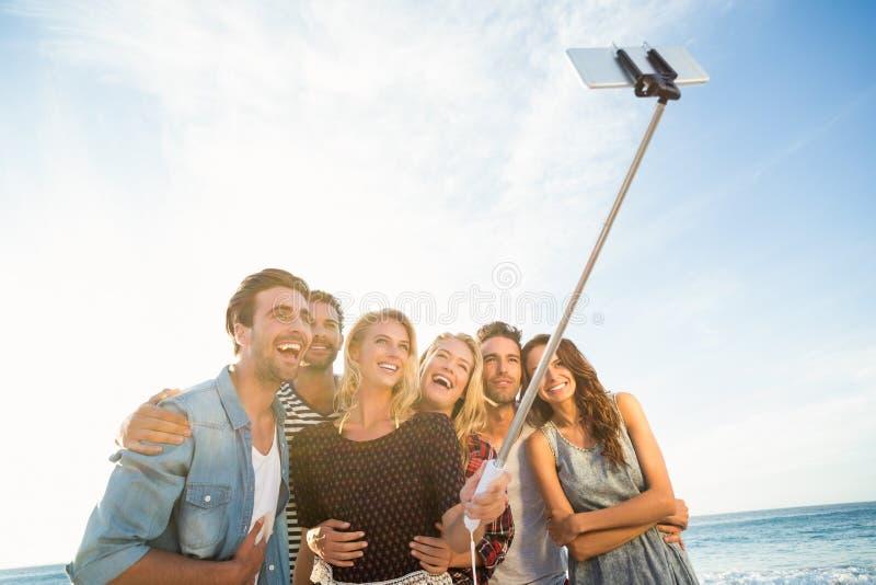 Friends taking a selfie stock image
