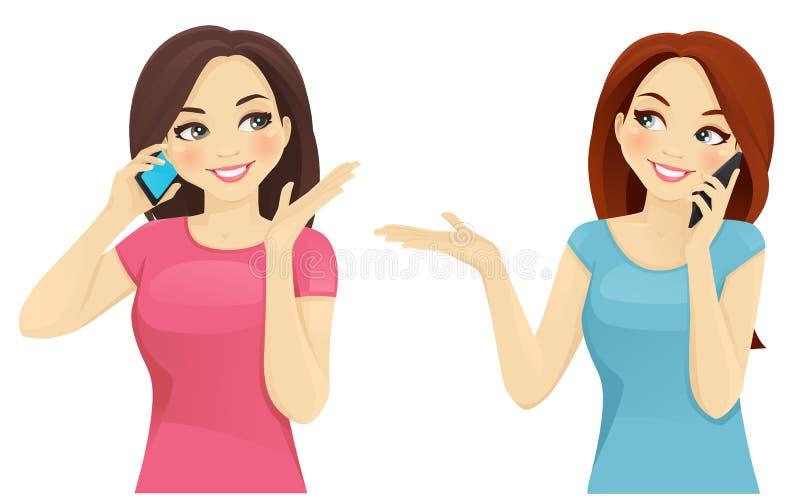 Girl On Phone Clip Art