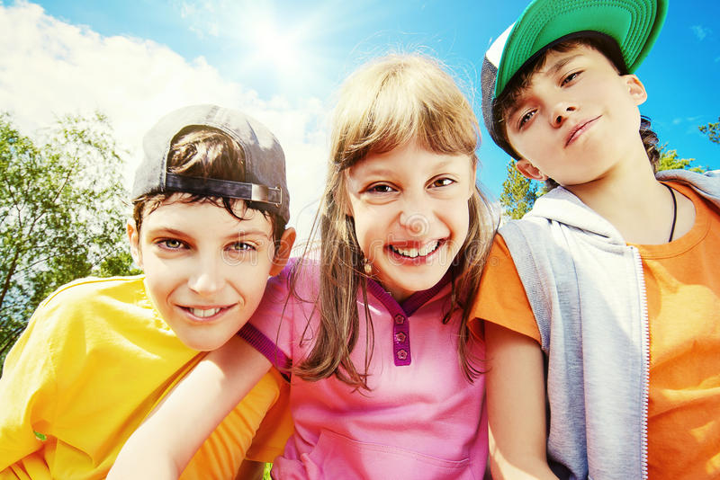 Download Friends stock photo. Image of childhood, nature, blue - 41815372