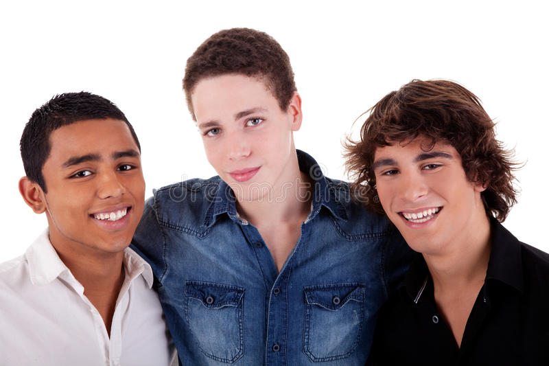 Download Friends: Three Young Man Of Different Colors Stock Image - Image: 16167099