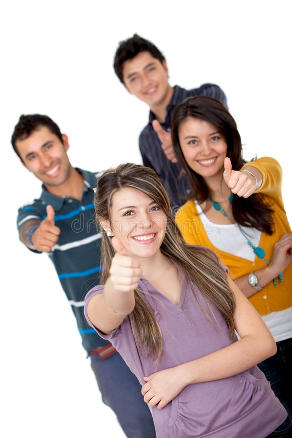 Download Friends with thumbs up stock image. Image of good, adults - 12422219