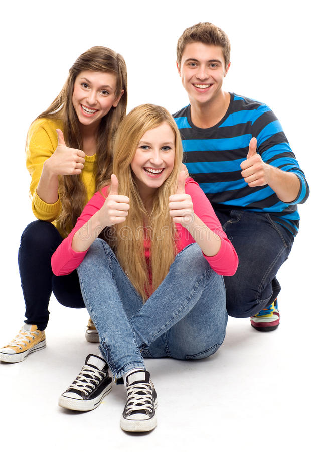 Download Friends with thumbs up stock photo. Image of sign, girls - 21237712