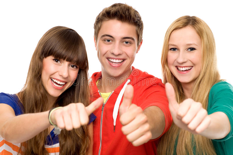Download Friends with thumbs up stock photo. Image of girls, female - 21380592
